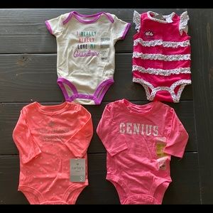 Summer casual onesie lot of 4 NWT!